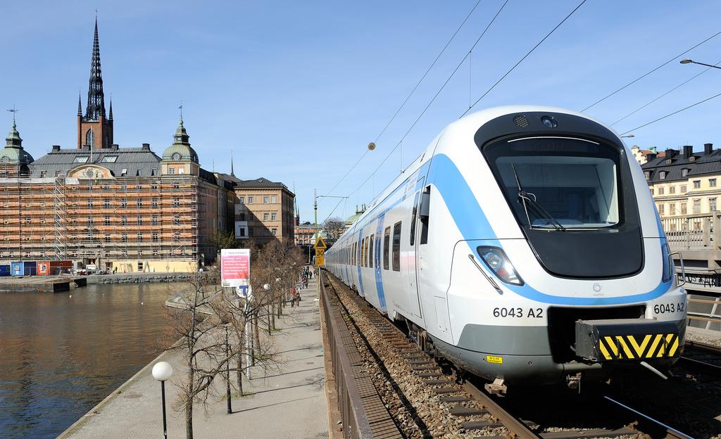 Moderní vlak - Švédsko
