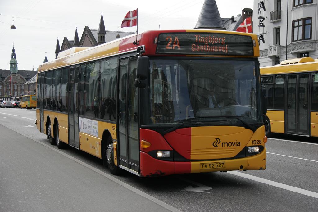 Hromadná doprava - Dánský autobus